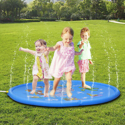 Kids Water Spray Pool Toy Sprinkler Cushion For Summer Fun Beach Outdoor 170cm