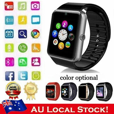GT08 Bluetooth Smart Watch Touch Screen Phone Wristband GPRS For iPhone Android