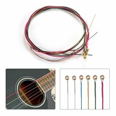 6pc Acoustic Nylon Classical Guitar Strings Slinky Nickel Wound Rainbow Colorful