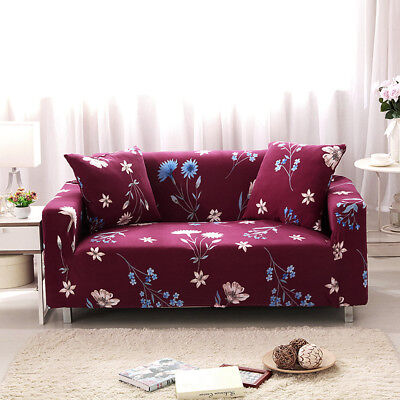 Elastic Stretch Slipcover Sofa Soft Cover Home Protector Couch 1/2/3 Seater H