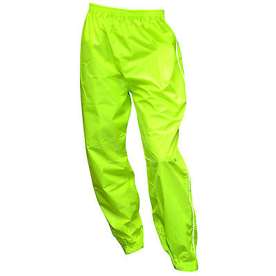 Oxford Rainseal Motorcycle Waterproof All Weather Over Trousers Fluo Yellow T