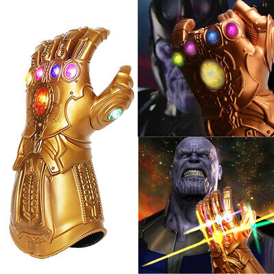 2019 Figure & LED Light Thanos Infinity Gauntlet Gloves Avengers Cosplay Prop