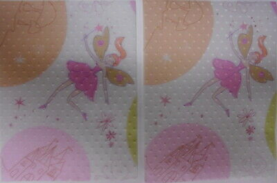 5 x Christina Re Embossed Transparent Patterned Paper ~ FAIRYTALE ~ 13cm x 10cm