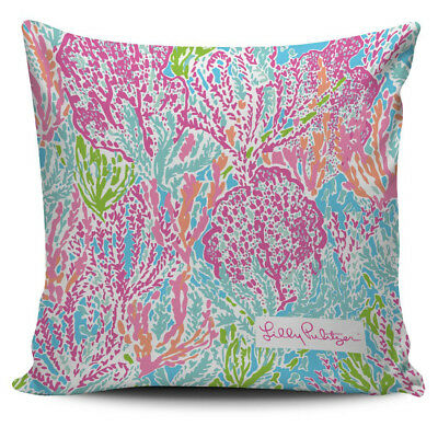 d75b639b158430 Print Lets Cha Cha Lilly Pulitzer Pillow Cover Cushion Case Home Decor