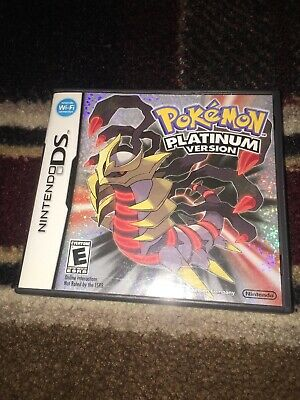 Original Game Cases & Boxes Pokemon Platinum Version Ds Case And Manual Only *no Game* Nintendo