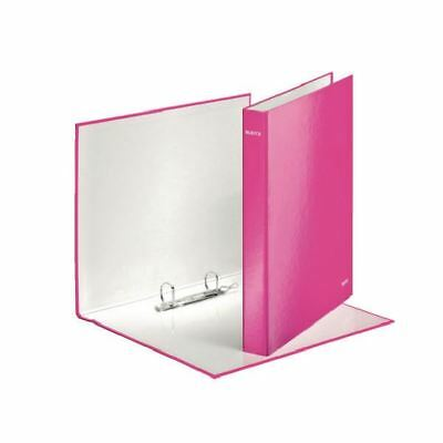 Leitz Wow A4+ 25mm Pink 2 D-Ring Binder (Pack of 10) [LZ32865]