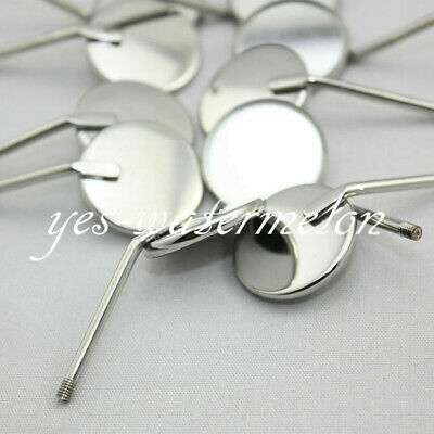 50 Pcs Dental Orthodontic Stainless Steel Mouth Mirrors Reflector Equipment # 5