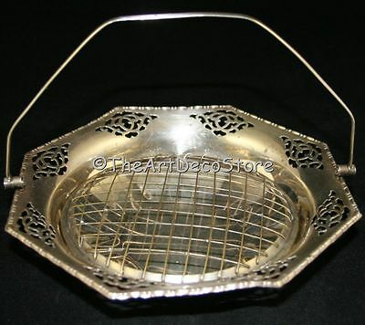 Vintage Art Deco Silver Plate Flower Arranging Bowl 9In Vase Centrepiece