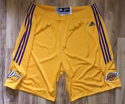 287d61488bcd Adidas NBA Authentic LA D-fenders Lakers Team Issued Pro Cut Game Shorts 3XL