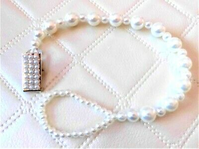 Simply Perfect Ivory Romany Crystal Bling Baby dummy soother clip chain gift