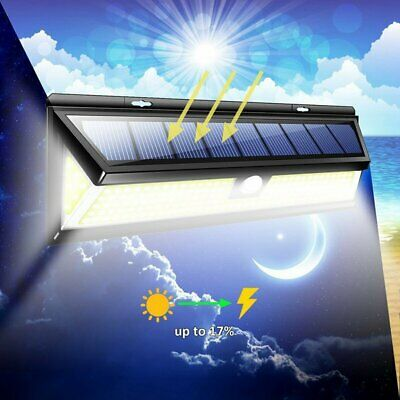 1000LM 180 COB LED Solar Wall Light Outdoor Garden Security Lamp Motion Sensor