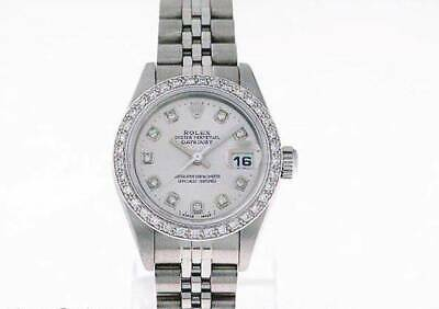 Rolex Datejust Women's Diamond Watch Automatic Oyster Stainless Steel Lady Watch