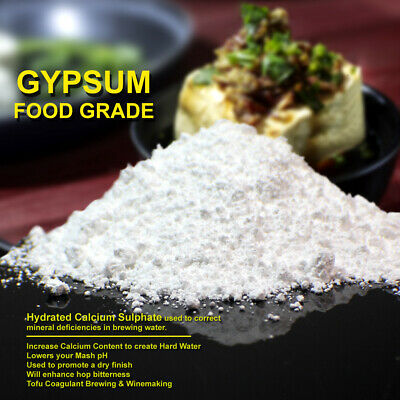 Au Seller Gypsum Powder FOOD GRADE Natural Calcium Sulphate FAST FREE SHIPPING