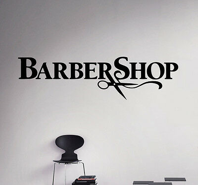 Barbershop Wall Vinyl Decal Sticker Hairdressing Salon Logo Art Decor 22(nse)