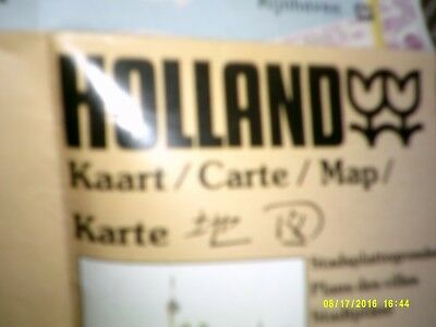 MAP OF HOLLAND no date probably 70s 24x15 inches Marriot good condition