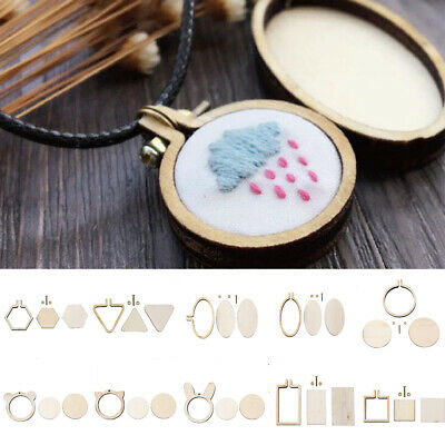 """Budget Wooden Poplar Pine Embroidery Cross Stitch Ring Hoop Frame from 3"""" to 6"""""""