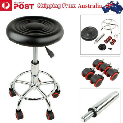 Salon Stool Hairdressing Barber Chair Beauty Swivel PU Leather Adjustable
