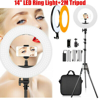 14'' LED Ring Light Studio Photo Video Dimmable Lamp Tripod Selfie Camera Phone