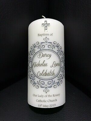 Personalised Christening/Baptism/Naming Day Candle
