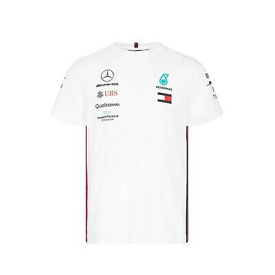 NEW 2019 MENS Mercedes AMG F1 Team Lewis Hamilton T Shirt Tee WHITE – OFFICIAL