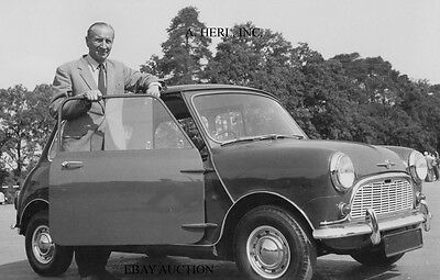 Alec Issigonis & Austin Mini - Morris Mini - April 1959 - Mini car introduction
