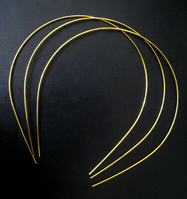 3 Pcs Thin Gold Wire Headband Blank Base - Tiara Headpiece Making Bridal Wedding