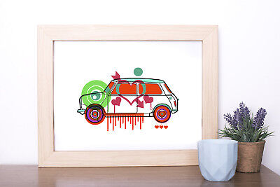 Mini Love digital art print drawing poster A4 size wallart