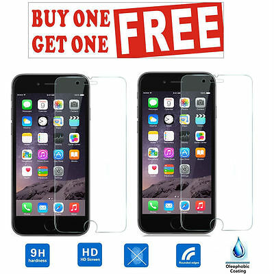 100% HD Genuine Apple iPhone 6 Tempered Glass Film Screen Protector (PACK OF 2)