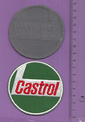 écusson badge patch brodé automobile moto cycle huile CASTROL