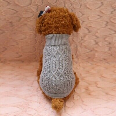 Cute Pet Dog Warm Jumper Sweater Clothes Puppy Cat Knitwear Knitted Winter Coat