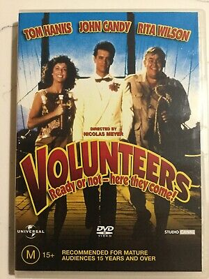 VOLUNTEERS - DVD Region 4 - Tom Hanks John Candy / LIKE NEW CONDITION