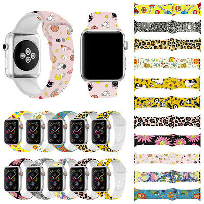 Replacement Silicon Sport Watch Band Strap For Apple Watch Series 4321 38MM 42MM