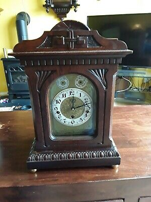 Large Bracket Clock With Hermle Movement Good Order