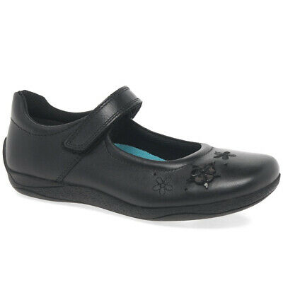 Hush Puppies Kada Girls Lace Black Leather School Shoes 100/% Postive Reviews