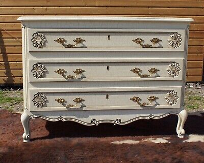 Original Vintage French Painted Chest Of Drawers Circa 1950 Very Good Condition