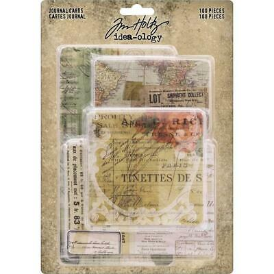 Tim Holtz Idea-Ology - Journal Cards - 100 Pieces - NEW!