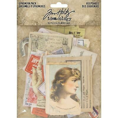Tim Holtz Idea-Ology - Ephemera Pack - Keepsakes - 95 Pieces - NEW!