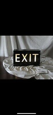 Vintage Industrial Collectable Exit light
