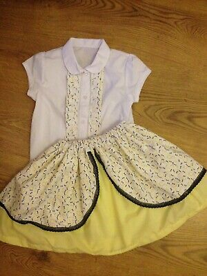 Handmade Romany Spanish 2piece Skirt Set 5-6years