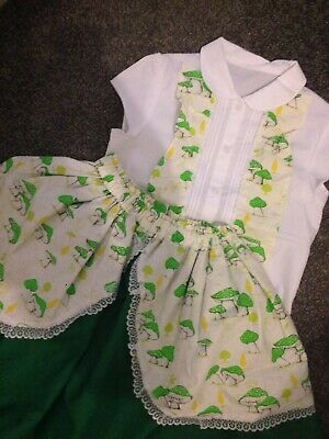 Girls Romany Spanish Frilly Handmade 2piece Skirt Set 7-8years