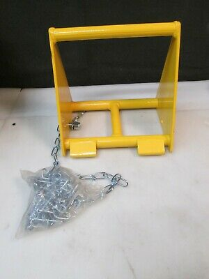 """VESTIL FAB-10 Fabricated Steel Wheel Chock 10"""" NEW FREE FAST SHIPPING FROM USA"""
