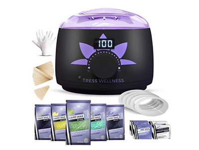 Home Waxing Kit Wax Warmer Hair Removal Waxing Kit - Professional at Home Waxing