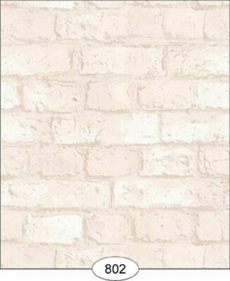 Dollhouse Wallpaper Weathered Brick in White
