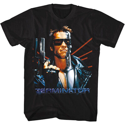 Terminator Arnold Schwarzenegger Movie Poster Men's T Shirt Lasers Iconic Cyborg