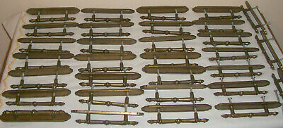 Lot Of 31 Vintage Amerock Brass Carriage House Cabinet Drawer Handles/Pulls 1976