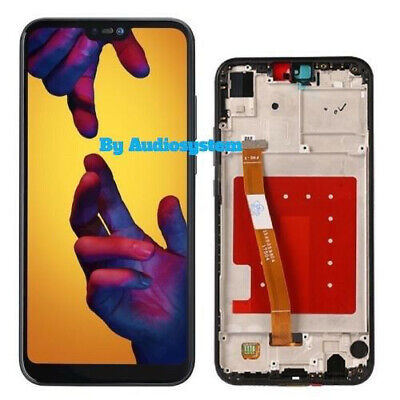 Display Lcd +Touch Screen Frame Huawei P20 Lite Ane-Lx1 Nero Nova 3E Vetro Cover
