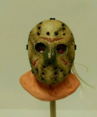 Custom 1/6 Jason Voorhees Friday The 13th 2009 Remake Head Sculpt And Mask