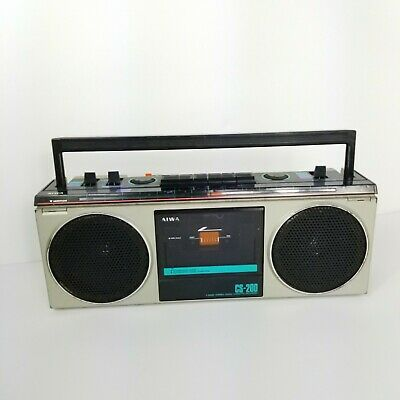 Vintage 1982 Aiwa CS-200 Boombox 4 Band Radio Cassette Recorder Portable Music