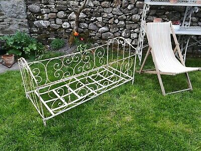 Antique Cast Iron Bed Frame Childs French Collapsible Folding Garden Rare