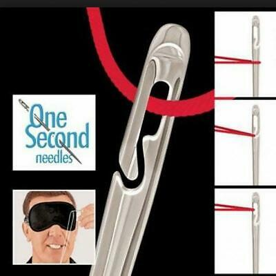 USA One Second-Needles Self Threading Needles Hand Sewing Repair Set of 12